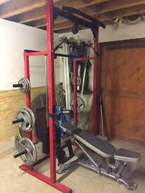 Power rack. Half rack. Gym.
