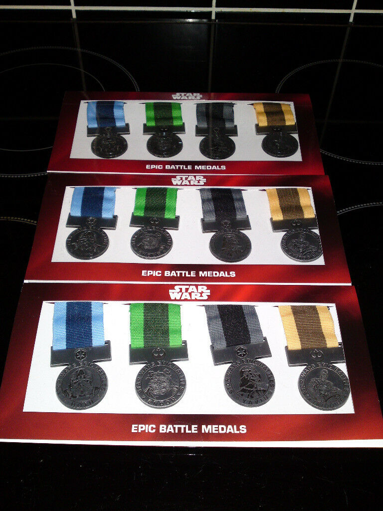 13992cf12bca Star Wars Lego Epic Battle Medals Toys R Us Exclusive Set of 4 x3 Mint