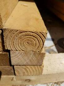 Reclaimed timber 4x2. 20 lengths at 2400mm long