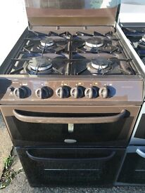CANNON 55CM ALL GAS COOKER IN BROWN WITH LID