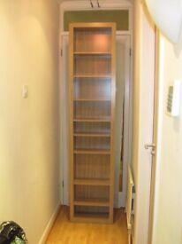 Argos HOME Portland DVD and CD Storage Tower Oak Effect Books Book Case 8 Shelves £25 ono