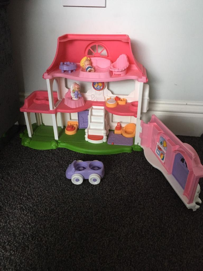 Fisher Price Happy Sounds Little People Dolls House In Shirehampton