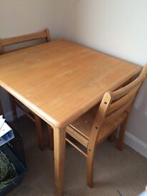 2 seater wooden dining table