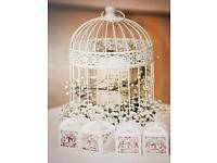 Bird cages wedding centre pieces
