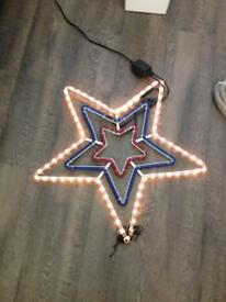 Flashing Star light decoration