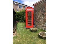 K6 red telephone kiosk