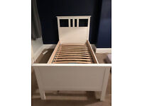 IKEA HEMNES WHITE WASH SINGLE BED & BED SLATS