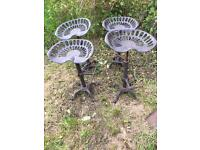 Set of 4 cast iron stools