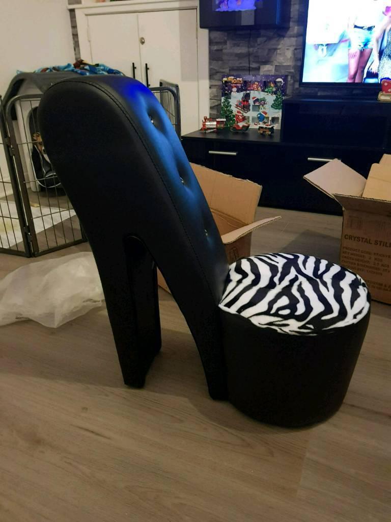 Kids high heel chair