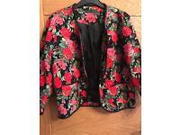 Size 12 floral box jacket