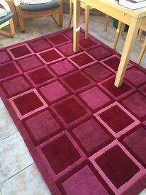 John Lewis pink rug