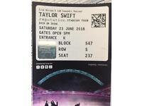 Taylor Swift Concert Ticket