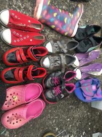 Bundle of girls shoes/ trainers size 12 plus