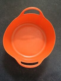 Orange Plastic Feed Bucket