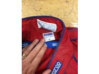 Sparco racing / pit / workshop overalls and gloves