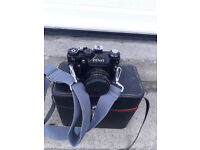 Zenit camera helios -44m with shoulder strap and carrying case