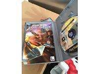 PlayStation 2 power and tv leads and 5 games including Star Wars