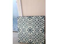 Tiles 45cm Square (x3) berkeley blue slate