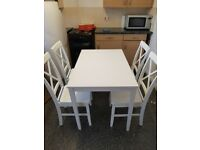 Table and Chairs - White - Seats Four