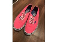 Pink ladies vans size 6, worn once but do not have box