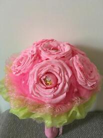 Crepe paper Flowers bouquet (Handmade)