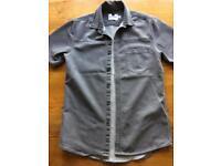 Men's Grey Short-Sleeves Shirt