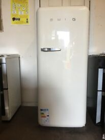 Smeg fridge freezer with ice box cream 3 months warranty free local delivery!!!!!!
