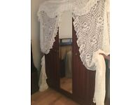 LACE DOOR OR WINDOW CURTAIN PLUS EXTRA CURTAIN IDEAL FOR CONSERVATORY OR SUN ROOM