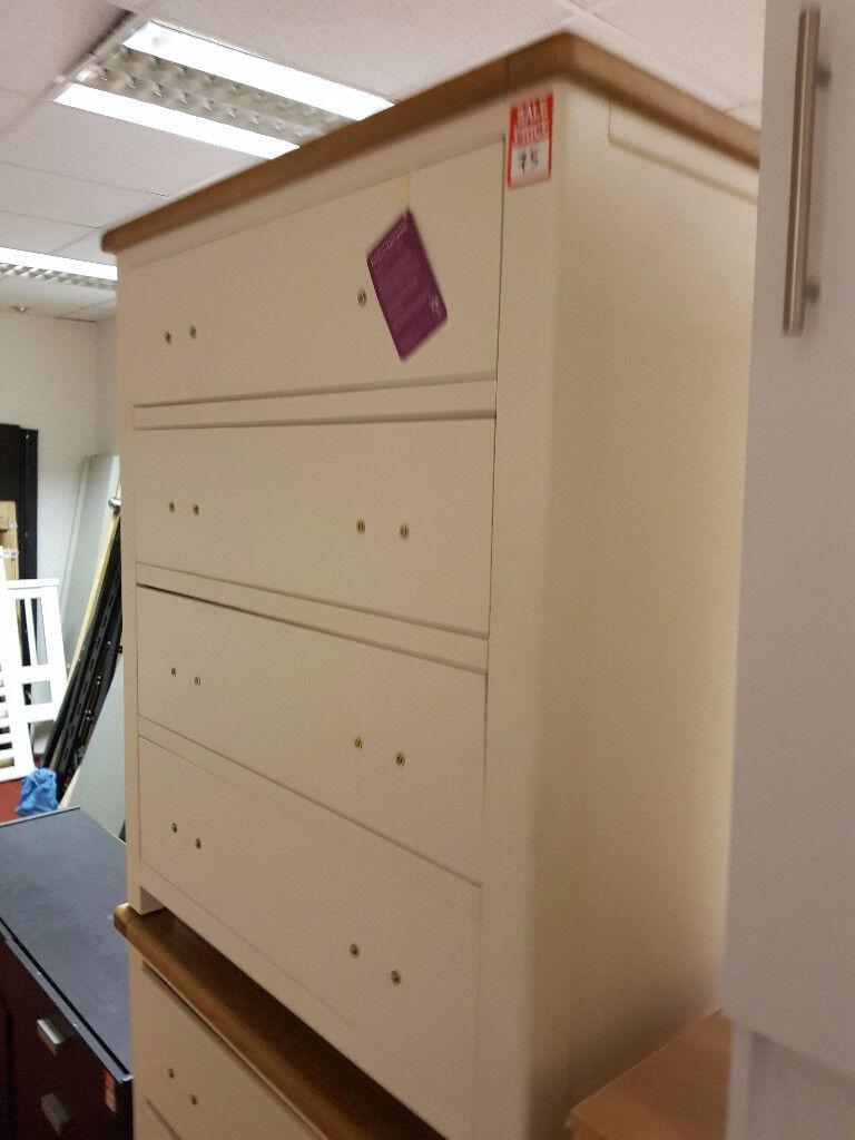 kent 2 tone 4 drawer chest 75