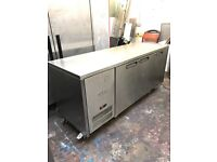 Williams three doors bench fridge, on top work under counter fridge