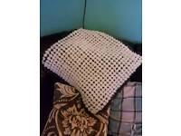 Large pom pom blanket