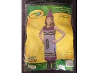 Girls dress up crayon outfit