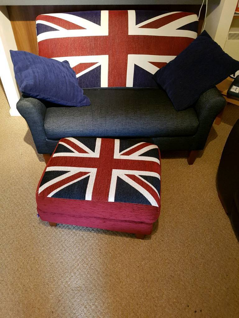 Marks & Spencer 2 seater chair and footstool