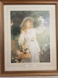 'Kittens' print by Percy Tarrant, framed.