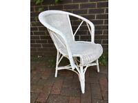 Vintage small wicker chair