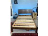 Solid Wooded Double Bed Frame