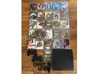 PS3 slim 160GB+25 top rated games
