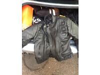 Full leather motocycle jacket for sale