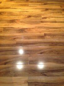 Gloss stunning walnut French oak laminate flooring