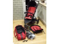Phil and Teds Explorer double tandem pushchair buggy with EXTRAS!!