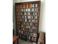 CD and DVD storage unit in wood