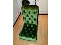 Victorian Nursing Chair - Crushed green velvet - smoke free home