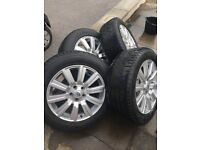 discovery 4 alloy wheels with tyres