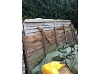 4 old fence panels for burning