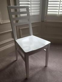 White chair.