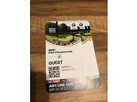BMW PGA TOur @Wentworth Tickets x4