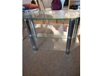 A 3 TIER GLASS TV STAND