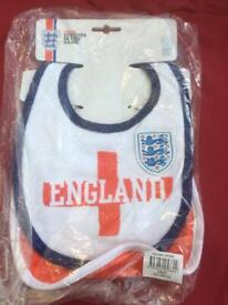 Official England baby bibs brand new