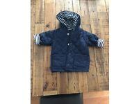Bennetton Baby Boy Navy/Stripe Quilted Jacket (0-3 months)