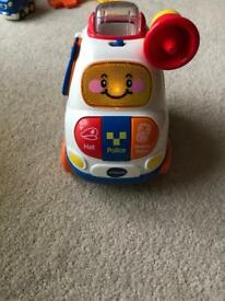 Large Vtech toot toot driver baby police car